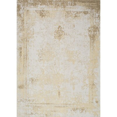 Chartres Hand-Woven Cream Area Rug Rug Size: 7'6