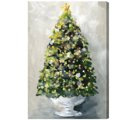 'Christmas Tree 1' Painting Print on Wrapped Canvas