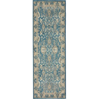 Luella Blue / Brown Area Rug Rug Size: Runner 2 x 6