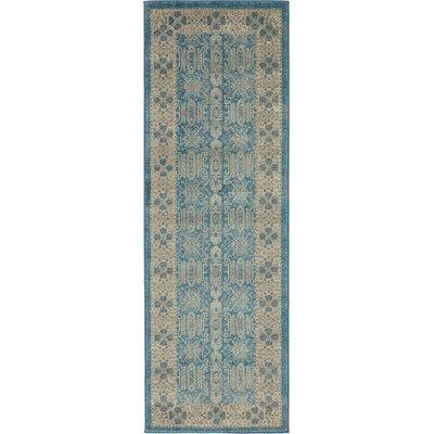 Luella Blue/Brown Area Rug Rug Size: 2 x 6