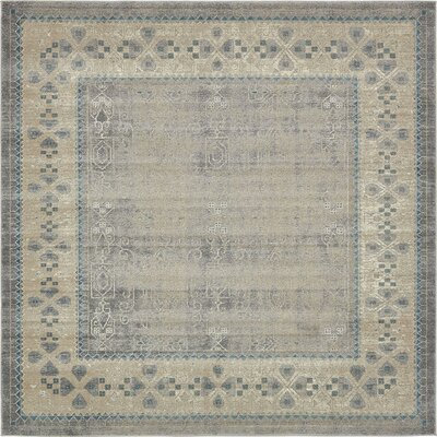 Brierfield Gray Area Rug Rug Size: Square 8