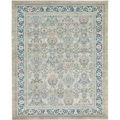Luella Beige/Blue Area Rug Rug Size: 8 x 10