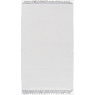 Nicol Hand Woven Cotton Light Gray Area Rug Rug Size: Rectangle 8 x 10