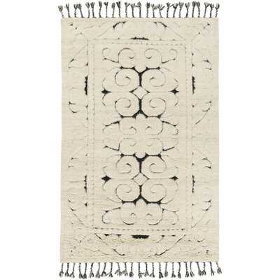 Isobel Hand-Knotted Beige Area Rug Rug Size: 6 x 9