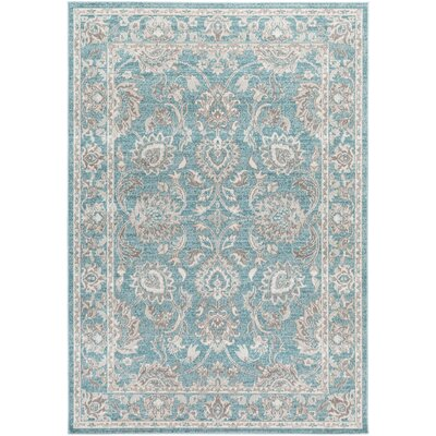 Velay Blue Area Rug Rug size: Rectangle 68 x 98