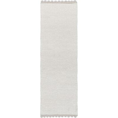 Embry Hand-Woven Light Gray Area Rug Rug size: Runner 26 x 8
