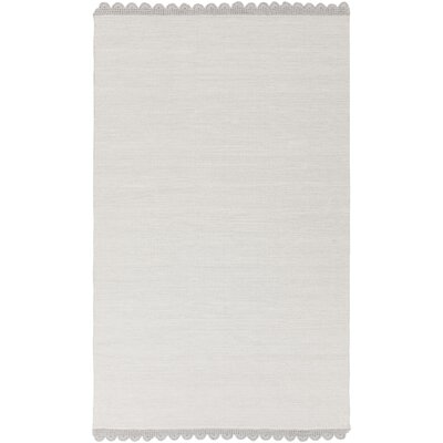 Nicol Hand-Woven Light Gray Area Rug Rug size: 33 x 53