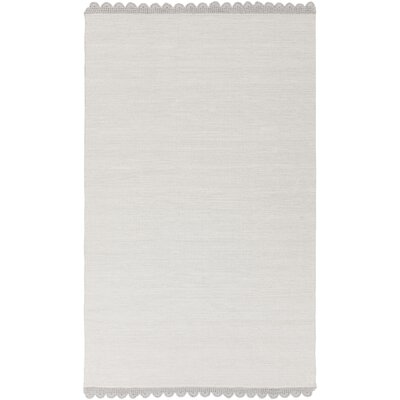Embry Hand-Woven Light Gray Area Rug Rug size: 8' x 10'