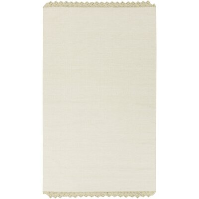 Nicol Hand-Woven Moss Area Rug Rug size: Rectangle 33 x 53