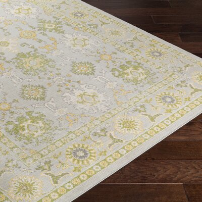 Velay Gray/Green Area Rug Rug Size: 53 x 76