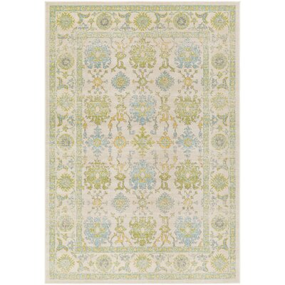 Velay Green/Blue Area Rug Rug Size: Rectangle 53 x 76