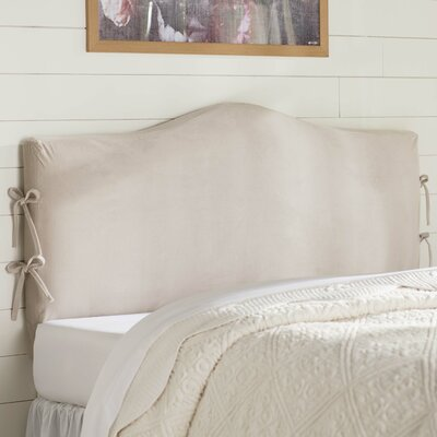 Angelique Slipcover Upholstered Panel Headboard Upholstery: Mystere Dove, Size: Queen