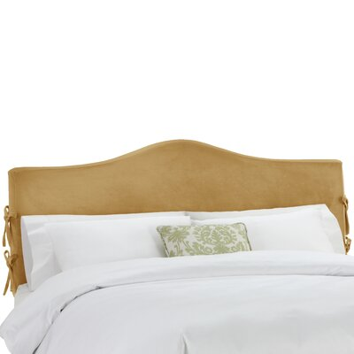 Angelique Slipcover Upholstered Panel Headboard Upholstery: Mystere Moccasin, Size: Queen
