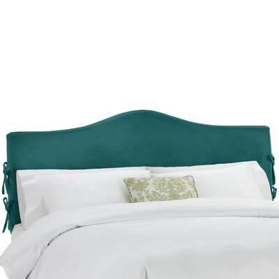 Angelique Slipcover Upholstered Panel Headboard Size: Queen, Upholstery: Mystere Peacock