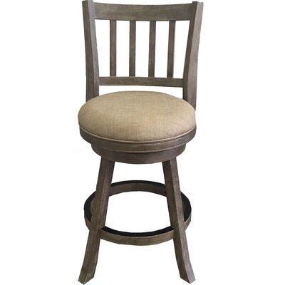 Naelle 24 Swivel Bar Stool Upholstery: Oatmeal