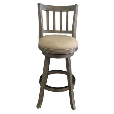 Naelle 29 Swivel Bar Stool Upholstery: Ivory
