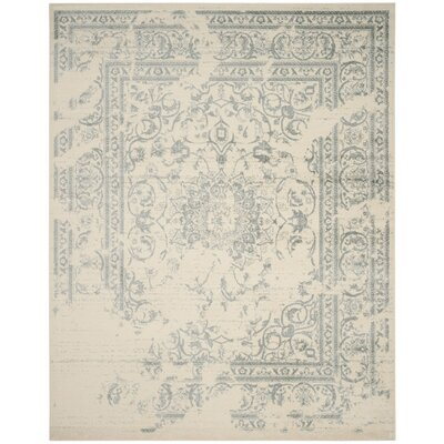 Arbus Ivory/Slate Area Rug Rug Size: Rectangle 51 x 76