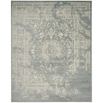 Arbus Slate/Ivory Area Rug Rug Size: 51 x 76