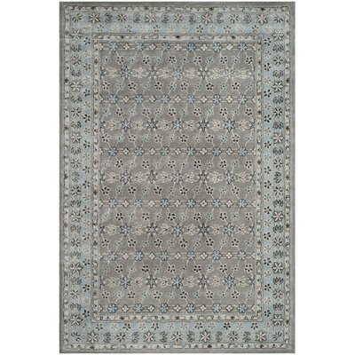 Blassingame Hand-Tufted Gray Area Rug Rug Size: Rectangle 26 x 4
