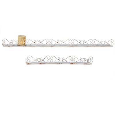 2 Piece Heart Scroll Wall Shelf Set