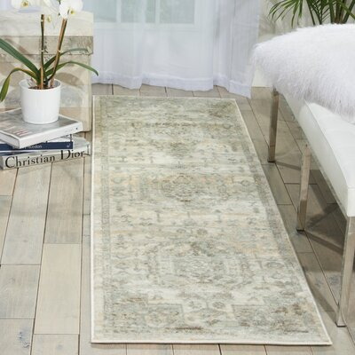 Menthe Gray/Ivory Area Rug Rug Size: Runner 22 x 76