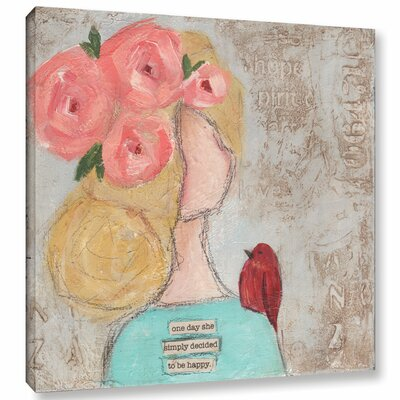 One Day She II Painting Print on Wrapped Canvas