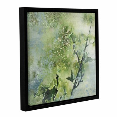 Spring Green Color Palette Framed Painting Print on Wrapped Canvas Size: 14
