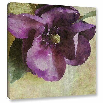 Purple Vibrant Spring Rhapsody Painting Print on Wrapped Canvas Size: 14