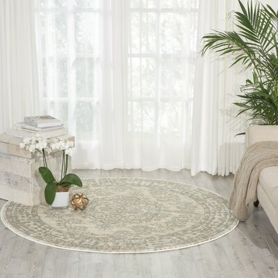 Angelique Bone Area Rug Rug Size: Round 53