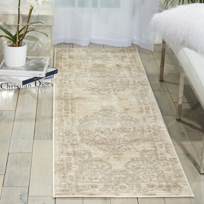 Angelique Bone Area Rug Rug Size: Runner 22 x 76