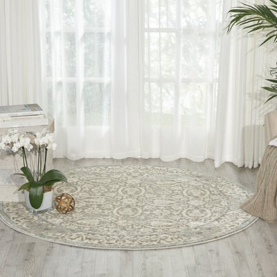 Angelique Gray Area Rug Rug Size: Round 5'3