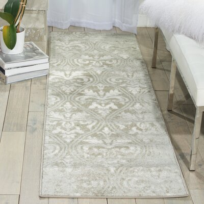Angelique Gray Area Rug Rug Size: Runner 22 x 76