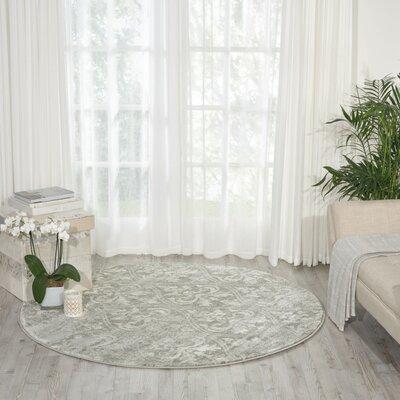 Angelique Gray Area Rug Rug Size: Round 53
