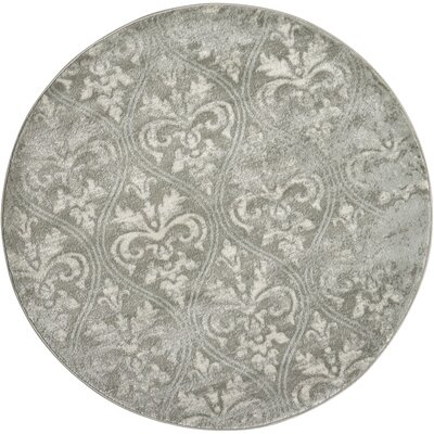 Angelique Neutral Gray Area Rug Rug Size: Round 53