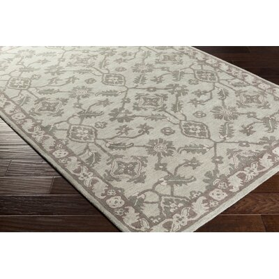Ivan Hand-Tufted Oriental Light Gray Area Rug Rug size: Rectangle 6 x 9