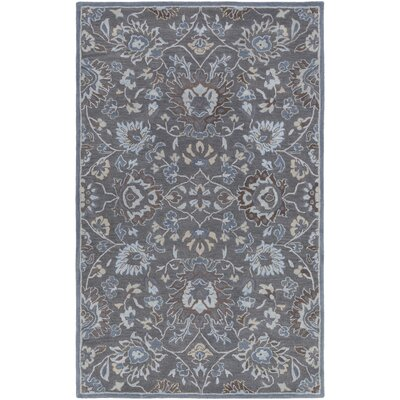 Ivan Hand-Tufted Charcoal Area Rug Rug size: Rectangle 5 x 76
