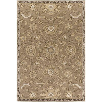 Ivan Hand-Tufted Taupe Wool Area Rug Rug size: Rectangle 4 x 6