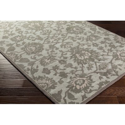 Ivan Hand-Tufted Light Gray Wool Area Rug Rug size: Rectangle 5 x 76