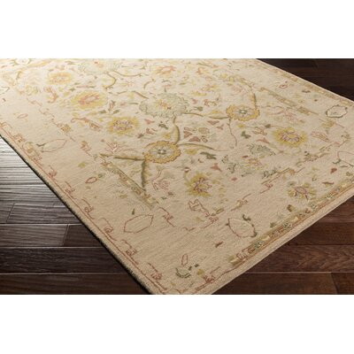 Ivan Hand-Tufted Oriental Taupe Wool Area Rug Rug size: Rectangle 5 x 76