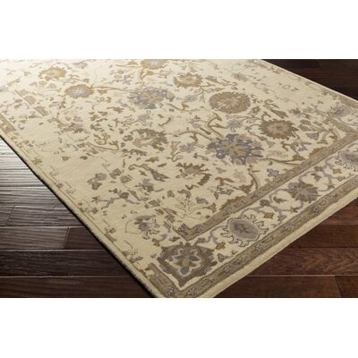 Ivan Hand-Tufted Khaki Area Rug Rug size: Rectangle 4 x 6