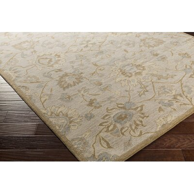 Ivan Hand-Tufted Light Gray Area Rug Rug size: 4 x 6