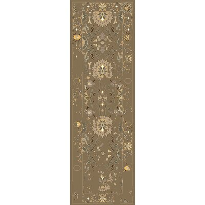Ivan Hand-Tufted Dark Brown Area Rug Rug size: Runner 26 x 8