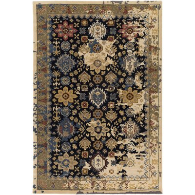 Ivan Hand-Tufted Black Area Rug Rug size: Rectangle 6 x 9