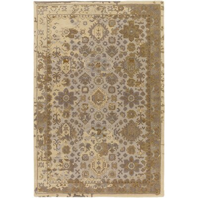 Ivan Hand-Tufted Tan Wool Area Rug Rug size: Rectangle 9 x 13