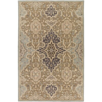 Ivan Hand-Tufted Oriental Taupe Area Rug Rug size: Rectangle 4 x 6