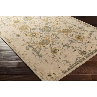 Ivan Hand-Tufted Taupe Area Rug Rug size: Rectangle 5 x 76