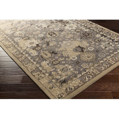 Ivan Hand-Tufted Camel/Taupe Area Rug Rug size: Rectangle 5 x 76