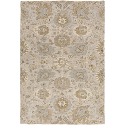 Ivan Hand-Tufted Tan Area Rug Rug size: Rectangle 6 x 9