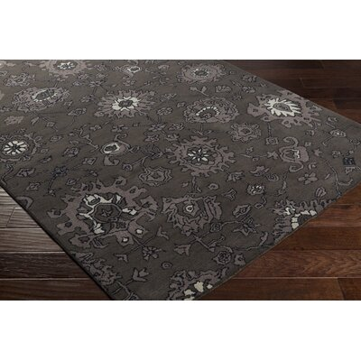 Ivan Hand-Tufted Taupe/Black Area Rug Rug size: Rectangle 4 x 6