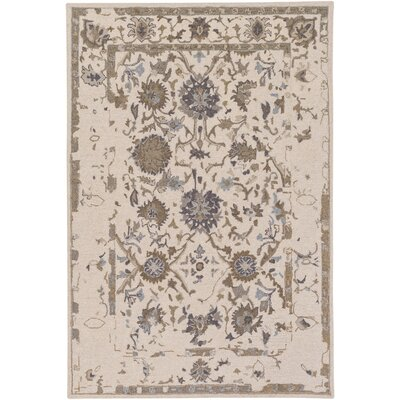 Javi Hand-Tufted Khaki Area Rug Rug size: Rectangle 2 x 3